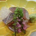 寿司 割烹 浪花 - 鯵の刺身