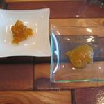 エノテカ エクウス - 紅茶についてきた自家製ジャム(うめとゆず)両方とも甘さ控えめで美味しい