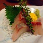 魚田 - かんぱち刺身850円