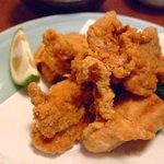 魚田 - 若鶏の唐揚げ600円