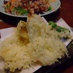 魚田 - ハゼの天ぷら(三匹)600円