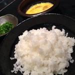銀座 あまくさ - 雑炊を選択すると出てくる雑炊セット