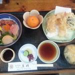 魚時 - ミニ海鮮丼+天ぷら定食