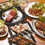 居酒屋 酒彩 - 酒彩コース!自慢の串焼、中トロをご賞味ください!