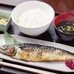やまと - 焼魚定食(サバの文化干し)880円