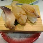 桜すし - 貝 三貫盛り