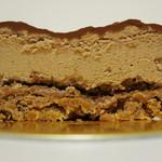エクスキーズ - 今日のケーキ《チョコレートケーキ》(断面、2013年11月)