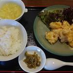 筋斗雲 - エビマヨ定食 880円
