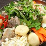 ムグンファ - お野菜たっぷりのお鍋も種類豊富にそろえております♪