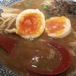 ひかり食堂 - 魚介醤油へ味玉トッピング
