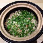 新屋敷 幸福論 - 2013/12 ディナー 毛蟹の炊きこみご飯