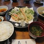 花月 - 野菜天ぷら定食¥1890