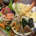 花月 - 料理写真:花月ランチ(ご飯・汁・デザート付)¥1200