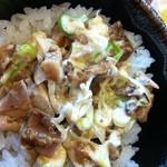 頓珍館 - ランチサービス100円で肉ねぎマヨ飯丼+お新香