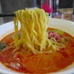 麺胡房 - 中太縮れ麺