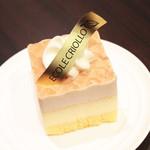 クリオロ カフェ - モンブランチーズケーキ (500円 持ち帰り450円)  '13 10月下旬