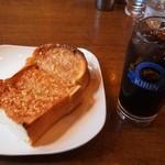 カフェドムッシュ - アーモンドトースト & アイスコーヒー
