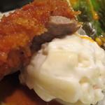江戸幸 - ビーフカツとマッシュポテト