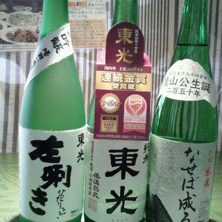 店主の実家は山形県の米沢市にある造り酒屋「東光」