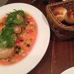 ル・ボア - ホタテのグリルフレッシュトマトソース