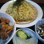 雪谷飯店 - 焼肉丼+ざるラーメン