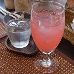 AZ DINING - ピンクレモンスカッシュです。