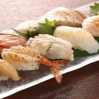 炙って味わう新鮮魚介