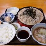 みちのく そば店 - 料理写真:そば定食850円(2013.11)
