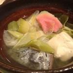 ようしん - ようしんの下仁田葱とさわらの柚子煮680円(13.11)