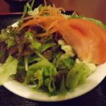 レストラン 若生軒 - 「カツ丼セット」のサラダ