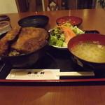 レストラン 若生軒 - 料理写真:「カツ丼セット」950円 サラダ・お味噌汁付です。