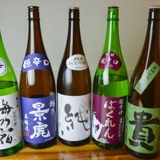 日本酒、焼酎のこだわりのラインナップ!