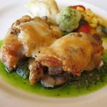 レストラン シャンモリ - 信玄鶏のグリル2000円(サラダバーつき)