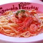 グラナダ・パンチェッタ - 料理写真:小海老のサーモンクリーム・黒胡椒添え