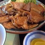 舟宿 - 定食の肉アップ