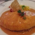 レストラン ラ・ペーシュ - レディースコース 蟹のオムライス