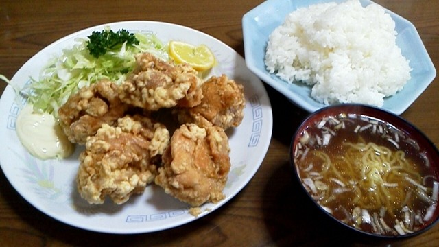 桂林 - 唐揚げ定食 750円