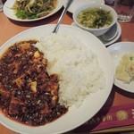 22904286 - ランチの陳麻婆豆腐かけご飯(激辛)