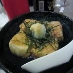 やぶれ居酒屋 まさかど - 次は揚げ出し豆腐450円、これは居酒屋メニューの定番ですね。