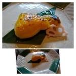 22906998 - 鰆の柚子味噌がけ・・味噌がタップリかかっているのが嬉しい。柚子の香りもいい品です。