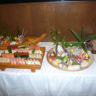 築地より仕入れる魚介類