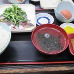 22910103 - うるめイワシのさしみ定食¥880@'13.12.上旬