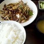 八宝園 - 料理写真:日替わり定食(ハツ野菜) 500円