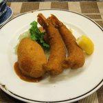 洋食の店 みしな - エビフライとカニクリームコロッケ