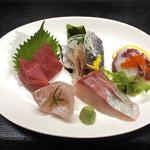 牡蠣小屋浜焼番兵 - お刺身定食(ランチメニュー)