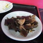 富士食堂 - こんぶの煮物の小鉢。これもうまい