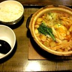 かまど - 味噌煮込みうどん(ご飯付)!(2013,11/30)