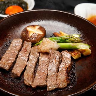 旬鮮台所ZEN - 佐賀牛イチボの陶板焼き