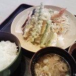 なかせい - 天ぷら定食セット(1,350円)