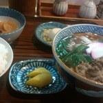 22921189 - 肉きしめん定食(600円)